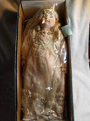 VINTAGE COLLECTIBLE PORCELAIN DOLL BY JULIE'S BEAUTIFUL VICTORIAN Dress