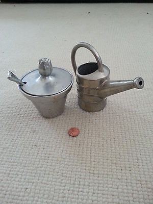 RARE Sugar Creamer Mariposa Brillante 1998 Flower Pot Shovel Spoon Watering Can