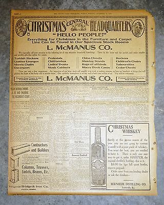 1910 Newspaper Ad - I.W. Harper Christmas Whiskey Bernheim Distillers Louisville