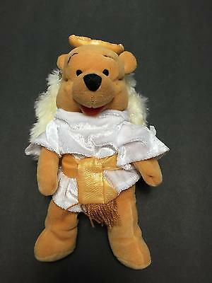 NWT Winnie the Pooh Bear Plush Angel Disney Store 8 In Easter