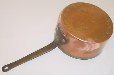 Ancienne CASSEROLE cuivre queue d'aronde - Antique copper COOKING PAN dovetailed