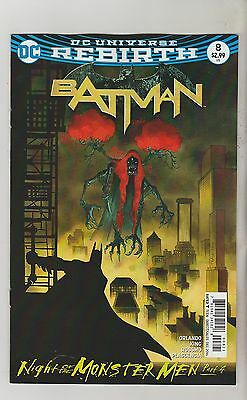 Dc Comics Batman #8 December 2016 Rebirth Variant 1St Print Nm