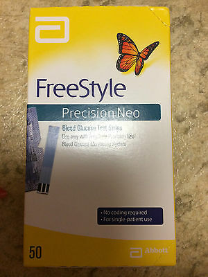 50 FreeStyle Precision Neo Blood Glucose Test Strips, 7/31/2017