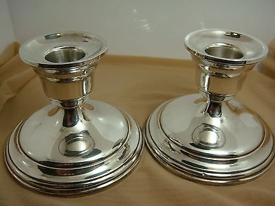 PSCO Pair of Sterling Silver Weighted Candlesticks 44 - Candle Sticks