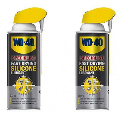 Specialist High Performance Silicone Smart Straw Spray 2 Cans 400ml 44377 WD40