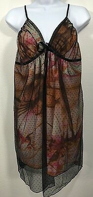 Women's Intimates Lingerie Sleepwear Mesh Night Dress, New, Size Large L