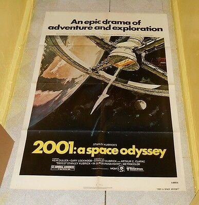 original 2001 A SPACE ODYSSEY one-sheet poster R-1980 Stanley Kubrick