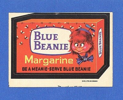 1974 Topps Original Wacky Packages  4th Series OPC Blue Beanie  tan back