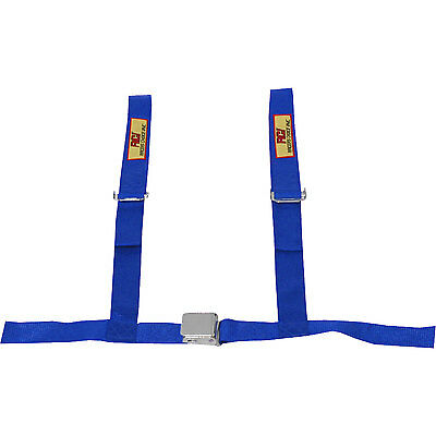 """RCI 9450C Non-SFI Approved 4-Point Seat Harness - 2"""" Width - Blue - With Tabs"""
