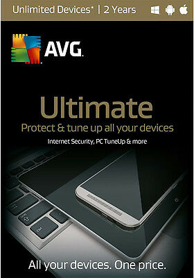 AVG Ultimate 2016 Unlimited Devices, 2 Years (Free Upgrade to 2017 Version)