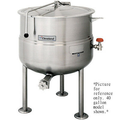 Cleveland KDL125 125 Gallon Stationary 2/3 Steam Jacketed Direct Steam Kettle