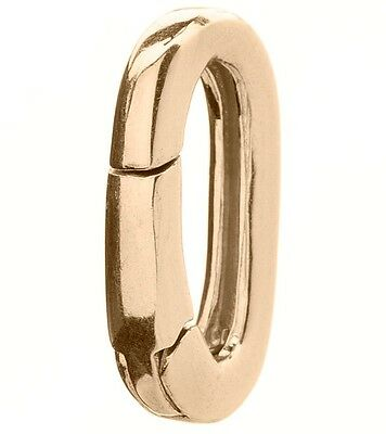 """WAXING POETIC Polished Brass 9/16"""" Flat Oval Charm Clip"""