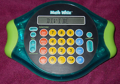Math Whiz Electronic HandHeld Game By Educational Insights **Tested**