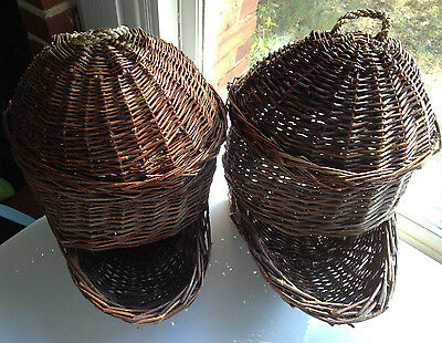 Rustic Woven Produce Storage Baskets with Lids Set of Two MSRP $89 at Hayneedle