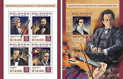 SOLOMON ISLANDS 2016 ** Composers Komponisten SET #409ba