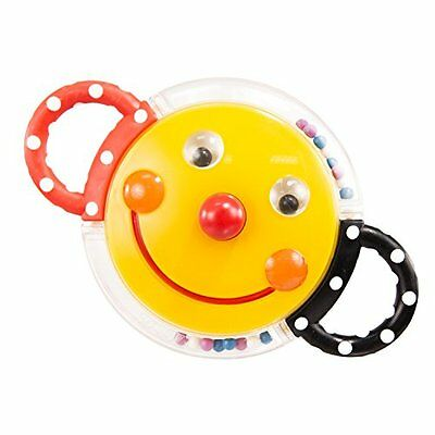 Sassy Rattle with Mirror, Smiley Face