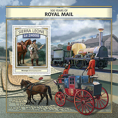 SIERRA LEONE 2016 ** Horses Carriage Postkutsche Royal Mail S/S #1018b