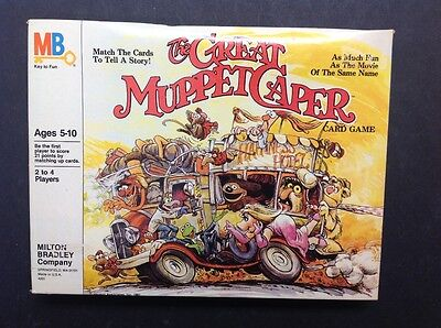 The Great Muppet Caper Card Game Milton Bradley 1981 Complete Rare