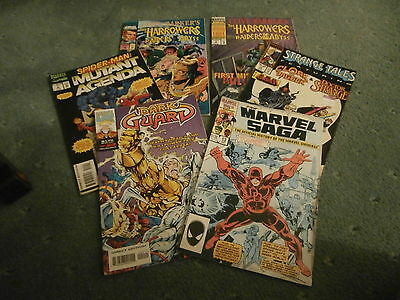Collection of 6 Vintage U.S Marvel Comics incl Spiderman and Daredevil