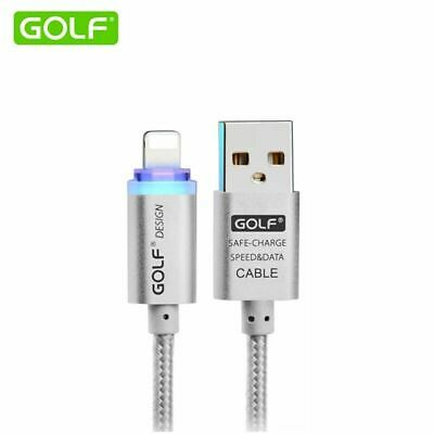 LED Golf USB Charger Cable for iPhone 7 6 6S 5S 5C 5 iPad Air Data Original Lead