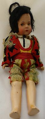 Antique Composition German Doll in Matador Outfit