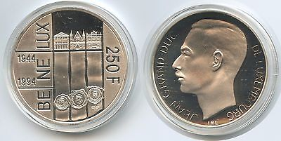 GS838 - Luxemburg 250 Francs 1994 KM#68 Silber BENELUX Jean Netherlands