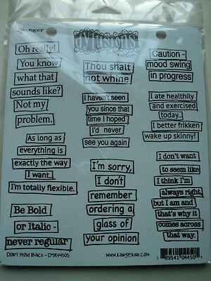 Ranger Dylusions By Dylan Revealey Cling Stamps Don't Hold Back New! *look*