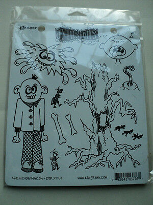 Ranger Dylusions By Dylan Revealey Cling Stamps Mischievous Malcolm New! *look