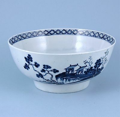 1st Period Worcester Punch Bowl - Precipice Pattern c1765