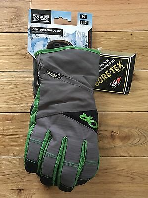 Outdoor Research Centurion Gloves Charcoal & Flash Green Mens Large New! Goretex