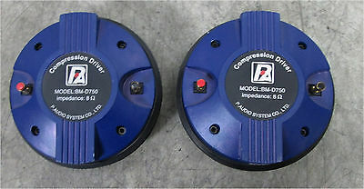 """PAIR of P. Audio BM-D750 Bolt On High Frequency 2"""" Compression Drivers TESTED"""