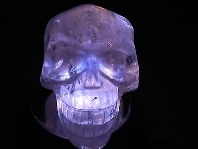 Clear Quartz Large Hand Carved crystal Skull 1.614kg 3.559lb Approx