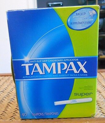 Tampax Tampons with Cardboard Applicator Super 40 ct