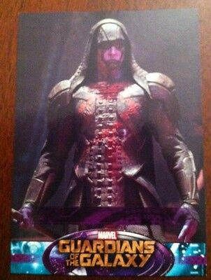 Guardians Of The Galaxy 2014 Movie Trading Card Sp Page As Ronin  # 92
