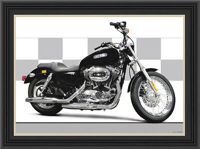 Harley Davidson 1200 Sportster Motorcycle Print /  Motorcycle Poster