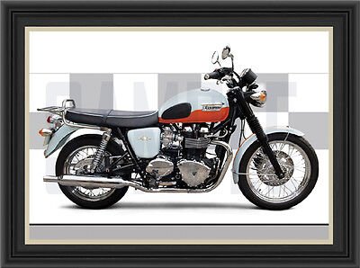 Triumph T100 Anniversary Motorcycle Print /  Motorcycle Poster