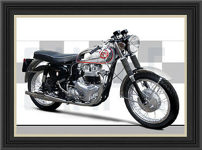 Bsa A10 Rgs Motorcycle Print / Classic Bike Poster