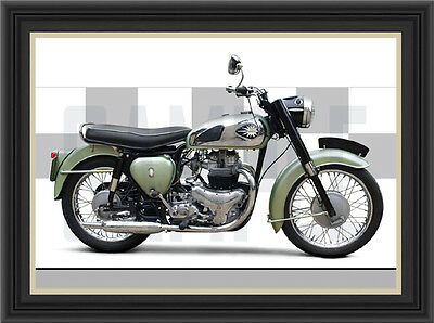 Bsa A7 Shooting Star Motorcycle Print / Classic Bike Poster