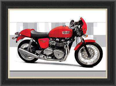 Triumph Thruxton 900  Motorcycle Print /  Motorcycle Poster