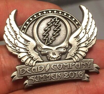 Silver 2016 Summer Dead and Company Grateful Limited Edition Medal Hat Pin