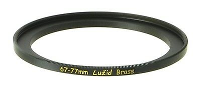 LUŽID X2 Brass 67mm 77mm Step Up Filter Ring Adapter 67 77 Stepping Lens Luzid