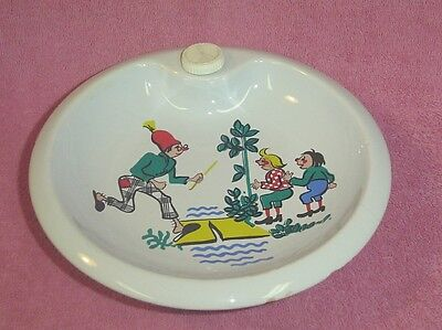 Vintage Germany Ceramic Child's Warming Bowl Dish Characters