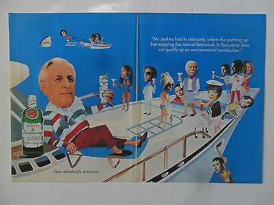 1995 Print Ad Tanqueray Gin Distilled English ~ Mr. Jenkins Yacht Party
