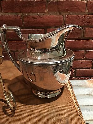Silverplate Ornate Decorated Water Pitcher  Entertain Wedding