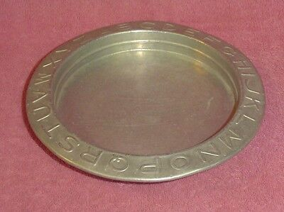 Vintage Child's Metal Alphabet Bowl Dish