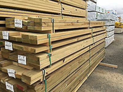 Pack Lot - 10pcs - 290 x 45 x 4.8m Merch Treated Pine  - $5.70 lm - Q81