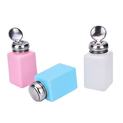 Empty Pump Dispenser Container Cleaner Nail*Polish Remover Liquid 200mL Bottle