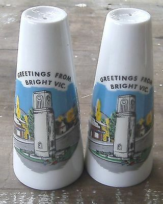 vintage souvenir salt & pepper shakers BRIGHT VICTORIA
