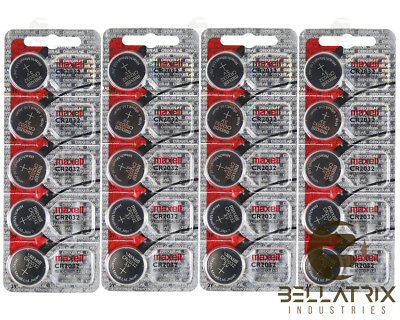 Maxell CR2032 CR 2032 3V Lithium Batteries ( 20 Batteries ) Factory Hologram