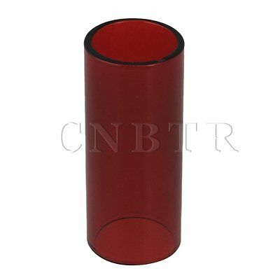 Gitarrenzubehör Glas String Slide Knuckle Rohr Red 25x20x60mm